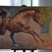 В Москве прошла выставка картин Карабахских лошадей «Кони Солнца и Света. Возрождение Карабахской породы»